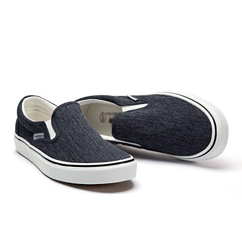 scarpe Scarpe e scarpe un da di aiutare comode basse traspiranti WFL pigro le invernale tela uomo casual per pedale Nero bassa scarpe caduta 4vxIaId