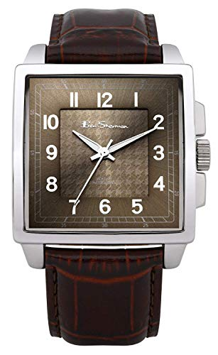 Ben Sherman Men's Quartz Watch with Brown Dial Analogue Display and Brown PU Strap BS028
