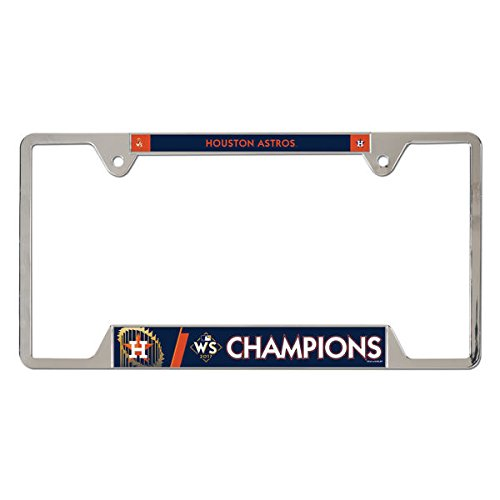 Houston Astros WinCraft 2017 World Series Champions Metal License Plate Frame