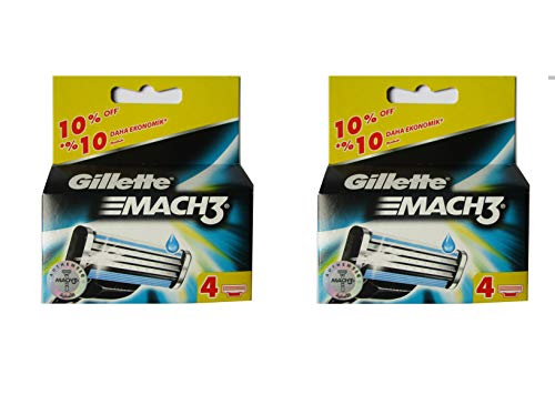 Gillette Mach 3 Razor Refill Cartridges 8 Count]()