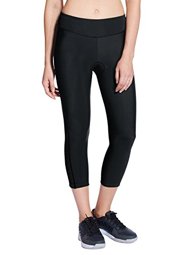 Baleaf Women's 3D Padded Compression Cycling Tights 3/4 Pants Wide Waistband UPF 50+