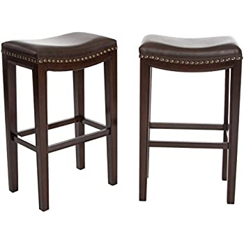 best selling andres backless bar stools brown set of 2