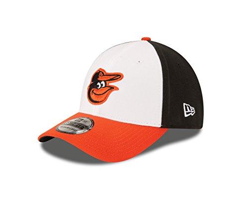 New Era MLB Baltimore Orioles Team Classic Home 39Thirty Stretch Fit Cap, Black/White, Medium/Large