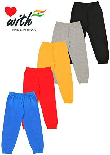 KYDA KIDS Boys' Loose Fit Trackpants (Pack of 5) Discounts Junction