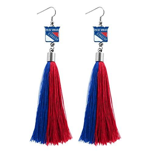 (NHL New York Rangers Tassel Earrings)