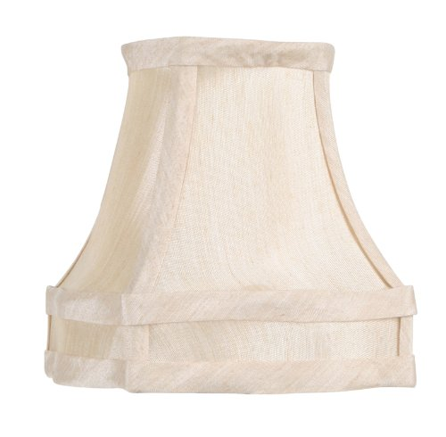 Livex Lighting S284 Fancy Square Silk Clip Chandelier Shade, 1