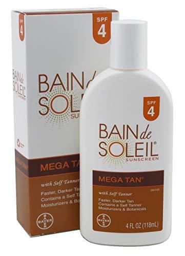 Bain De Soleil Spf#4 Mega Tan With Self Tanner 4 Ounce (118ml) (6 Pack)
