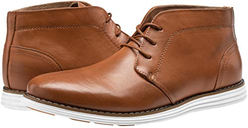 Pictures of JOUSEN Men's Chukka Boots Casual Leather 3