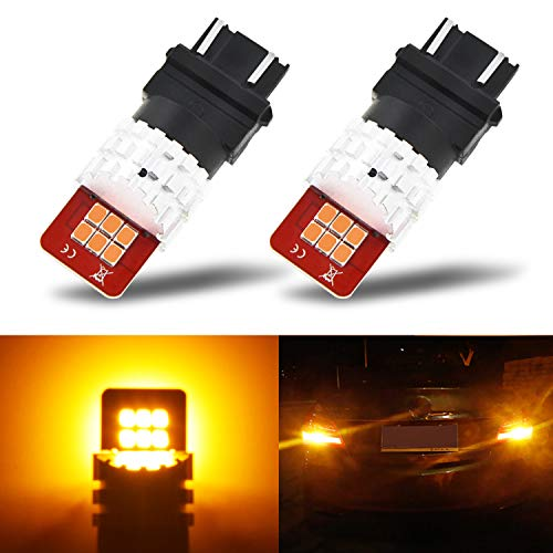 (AUXITO Amber Yellow 3157 3156 4157NA LED Bulb with High Bright 2835 LED Chips 3057 4057 4157 Light Replacement for Turn Signal Lights Blinker Lights(Pack of)