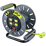 Masterplug Electrical Cord Storage Reel with 4 120V 10 amp outlets