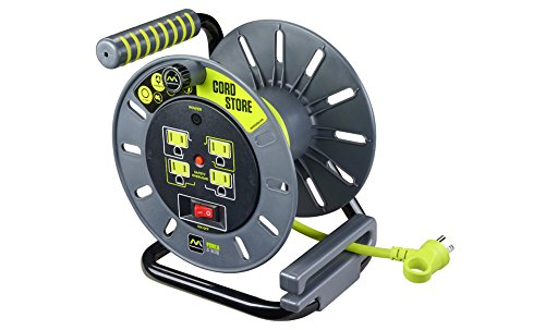 Masterplug Electrical Cord Storage Reel with 4 120V 10 amp outlets by Masterplug