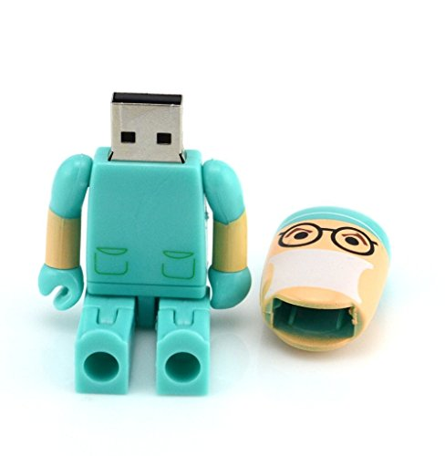 shooo Hembra Enfermera USB Flash Drive Juguete Forma Estilo Cartoon Robot 2