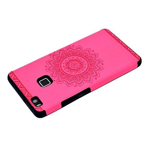 inShang Huawei P9 Lite,Ascend P9 Lite case Funda y Carcasa para Huawei P9 Lite case Huawei P9 Lite móvil, Ultra delgado y ligero Material de TPU, carcasa posterior (Back case) con , Rose printing