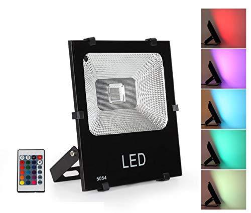 FOCO PROYECTOR LED RGB 30W IP65 PARA USO EXTERIOR CON MANDO ...