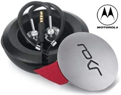 Motorola Earphone Handsfree Headset Hard Tangle Free Windup Case