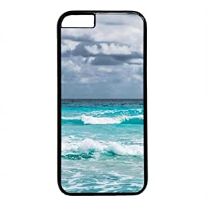 """Beach View Theme Case for iPhone 6 Plus (5.5"""") PC Material Black"""