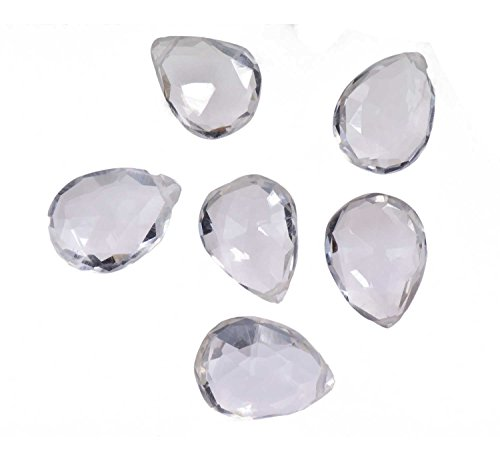 (Quartz Briolettes Faceted Pear Beads 10mm to 12mm (Qty=6))