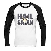 Men's Hail Satan Baseball Cotton T Shirt