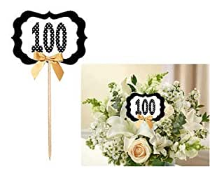 Amazon.com: 100th Birthday/Anniversary Table Decoration ...