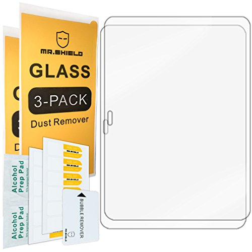 [2-PACK]-Mr Shield For Samsung Galaxy Tab 4 10.1 10inch [Tempered Glass] Screen Protector [0.3mm Ultra Thin 9H Hardness (Samsung Galaxy 10 Tab 4)