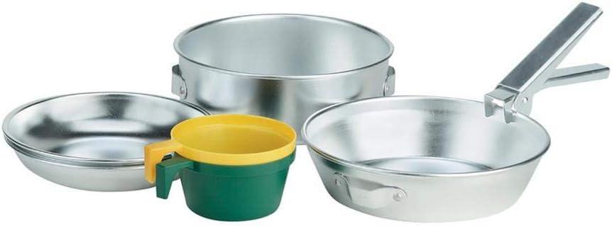 Ferrino POPOTE Duo Kit de Cocina Acampada y Senderismo, Adultos Unisex, Plateado (Silver), Talla Única
