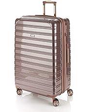 Flylite I-Deluxe 77cm Hard Suitcase Luggage Trolley Rose Gold Large