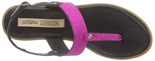 Buffalo London 1060-06 Cn Cow Pony - Sandalias de dedo Mujer Varios Colores - Mehrfarbig (BLACK758)