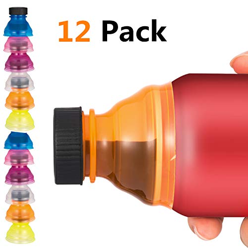 12 PCS Can Covers, Clear Soda Can Lids Cover Top For Soda Beer Energy Drinks Juice Seltzer Reusable Bottle Lid Caps For Fizzy Drink Picnic Accessories Beach Gadgets BPA-Free