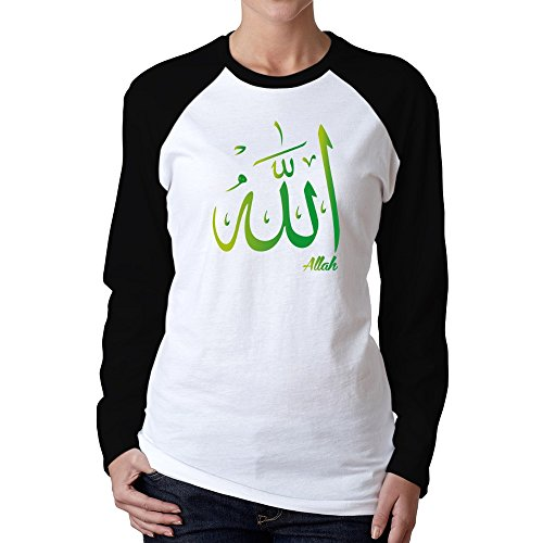 Idakoos - Allah arabic character - Fantasy and Monsters - Women Raglan Long Sleeve T-Shirt (Names Of Monster High Characters)