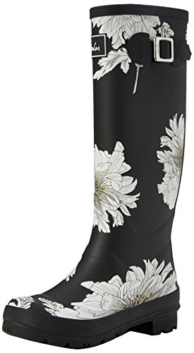 Botas de Mujer Joule Floral Welly Negro Tom Black Print Agua w4nt6cqIq