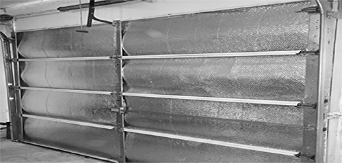 Garage Door Insulation Kit by RadiantGUARD - Metalized Aluminum Reflective Double Bubble Foil Insulation Fits Door 8 Feet Tall by 18 Feet Wide (GDK)
