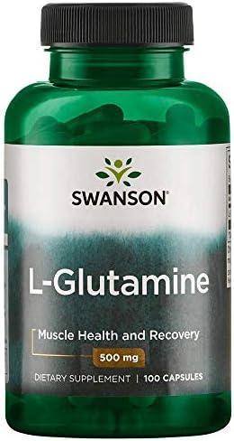 Swanson Amino Acid L-Glutamine 500 Milligrams 100 Capsule