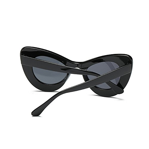Retro Eye Gray Sunglasses Cat Resin Frame Frame Black Women for Black Goggles Clout Vintage Narrow qRwqxCtUf