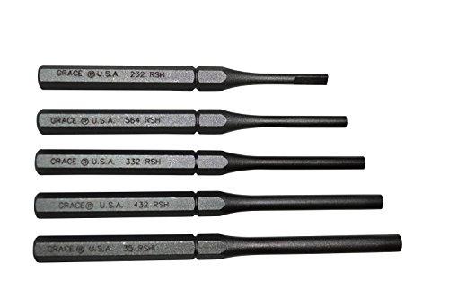 Grace USA - Roll Spring  (Pin) Holder Set - RSH-5  - Gunsmithing -  Roll Pin Holders - 5piece - Gunsmith Tools & Accessories