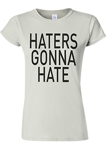 郊外平和的多数のHaters Gonna Hate Funny Novelty White Women T Shirt Top-XL