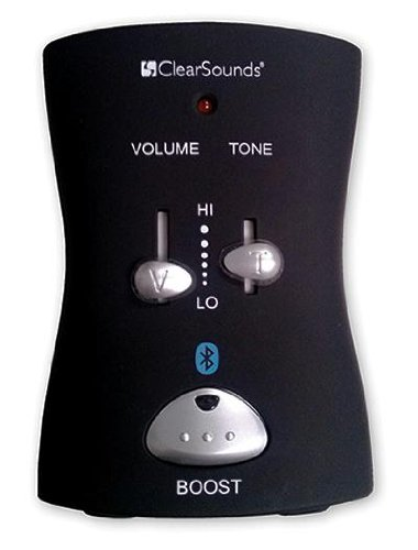 ClearSounds CSQH2 Bluetooth Hub and Phone Amplifier, Black Handset Lift Optional Not Included