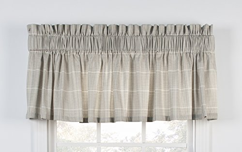 Morrison plaid check print tailored valance curtain 80 for 15 inch window blinds