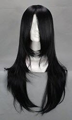 SMILE Popular Black Design Naruto Orochimaru Hyuuga Neji 60cm Long Anime Cosplay Wig