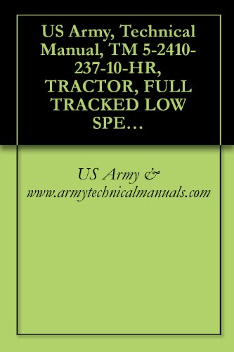 US Army, Technical Manual, TM 5-2410-237-10-HR, TRACTOR, FULL TRACKED LOW SPEED: DIESEL ENGINE-DRIVEN-MEDIUM-DRAWBAR-PULL MODEL TRACTOR WITH RIPPER (NSN ... WINCH AND WINTERIZED CAB (2410-01-253-2117)