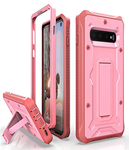 Galaxy S10 Heavy Duty Case - ArmadilloTek Vanguard Series Military Grade Rugged Case with Kickstand for Samsung Galaxy S10 [Not S10+ Plus or S10e] - Pink