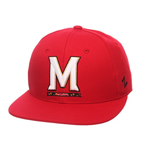 NCAA Maryland Terrapins Men's M15 Fitted Hat, 7_1/4, Red (Hat Maryland Zephyr)