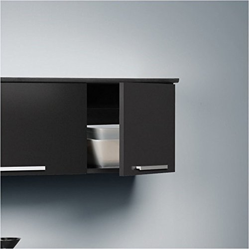 Hawthorne Collections Wall Mounted Hutch in Black