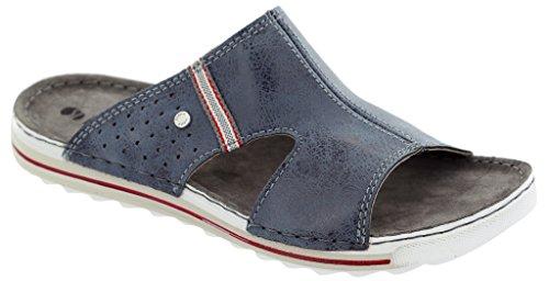 INBLU - Zapatillas de estar por casa de piel sintética para hombre azul turquesa 43