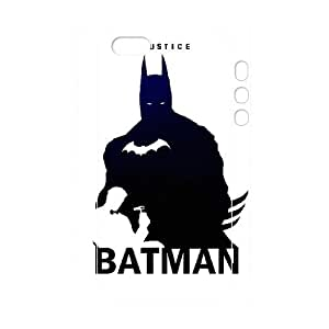 3D Batman Justice League Sihouettes For Iphone 5/5S Phone Case Cover Protection For Iphone 5/5S Phone Case Cover Women Yearinspace {White}