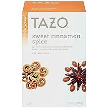 Tazo Sweet Cinnamon Spice Herbal Infusion Tea, Caffeine Free, 20-Count Tea Bags