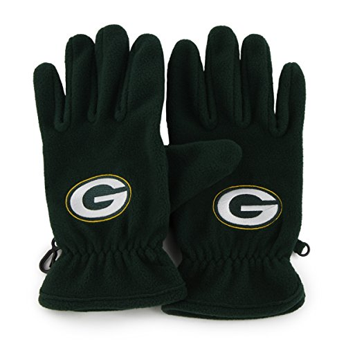 NFL Green Bay Packers Men's '47 Fleece Gloves, Dark Green