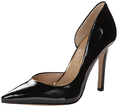 Jessica Simpson Women's Claudette Rubber Dress Pump, Black 01, 10 M US