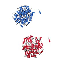 MagiDeal Pack of 200pcs Heat Shrink Bullet Wire Electrical Crimp Connector Male and Female Assortment