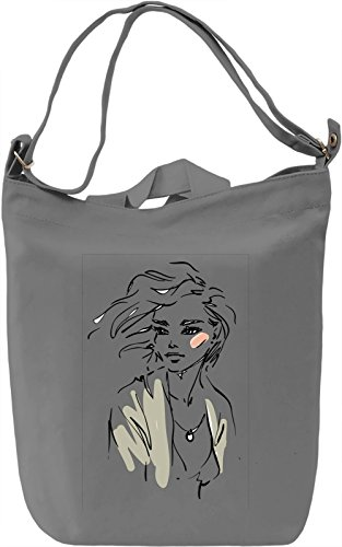 Girl With The Wind in Her Hair Borsa Giornaliera Canvas Canvas Day Bag| 100% Premium Cotton Canvas| DTG Printing|