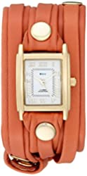 La Mer Collections Women's LMLW2501 Navajo Tone-On-Ton Layer Analog Display Quartz Brown Watch